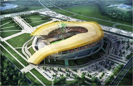 Le futur stade de la ville de Rostov-sur-le-Don
