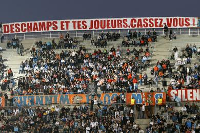 Banderoles supporters marseillais