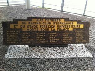 Hommage aux stéphanois, morts pour la France