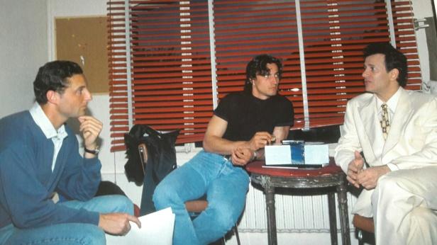 Arnaud Ramsay, David Ginola et Francis Huster