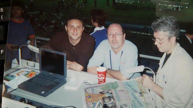 Arnaud Ramsay, Patrick Dessault et Patrick Sowden - Coupe du Monde 2002