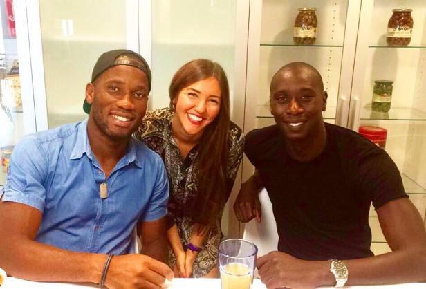 Gladys DIBLING, Didier DROGBA et Hassoun CAMA